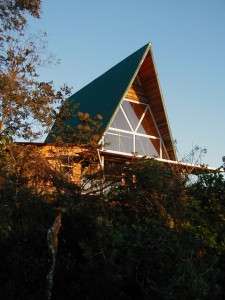 A-frame from below