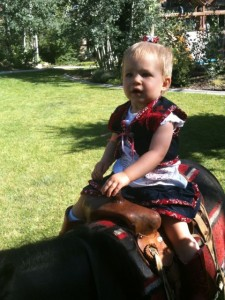 First horseback ride