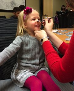 She loves face painting!