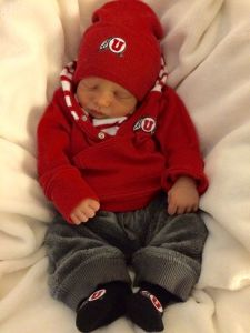 One week old and a little Utes fan already!