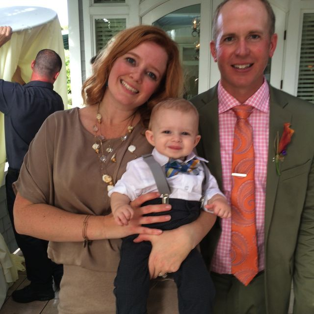 Mr. Henry was looking pretty dapper at the wedding, along with his parents.